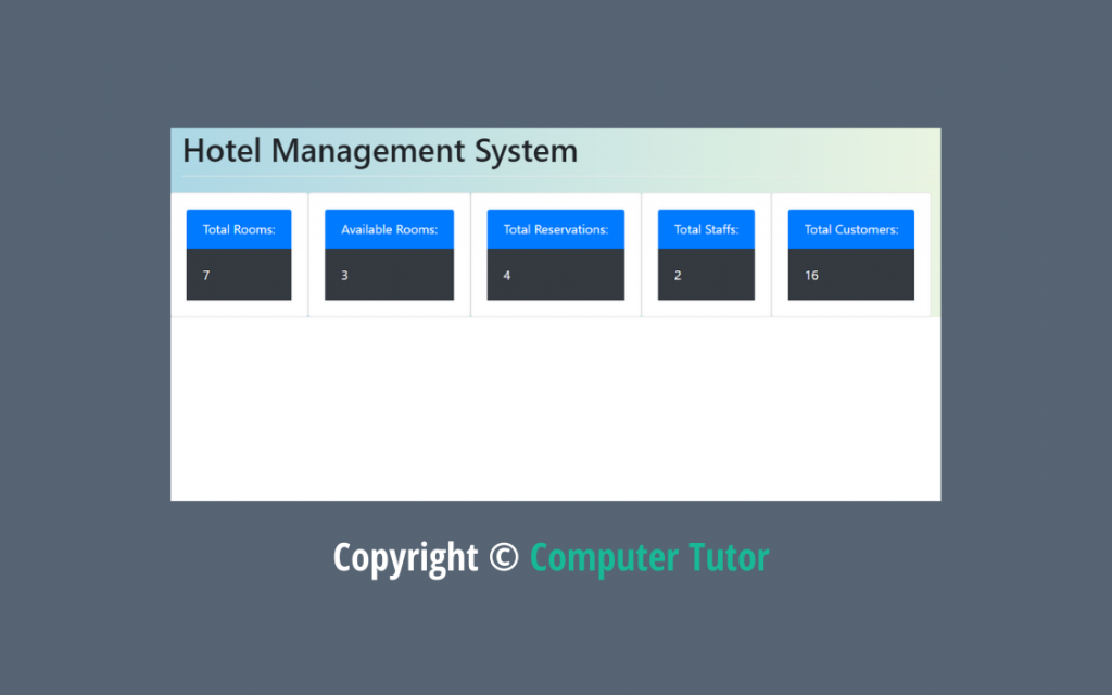 hotel management system class 12 computer science